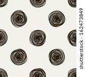seamless pattern. casual polka... | Shutterstock .eps vector #162473849