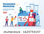 pharmaceutical manufacturing... | Shutterstock .eps vector #1624753147