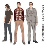three men of different ages ... | Shutterstock .eps vector #162479291