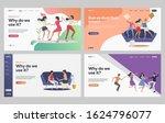 set of friends having house... | Shutterstock .eps vector #1624796077