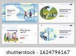 set of friends skiing and...   Shutterstock .eps vector #1624796167