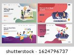set of friends chatting and...   Shutterstock .eps vector #1624796737