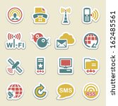 communication color icons. | Shutterstock .eps vector #162485561