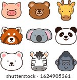 set of outlined cute and simple ... | Shutterstock .eps vector #1624905361