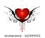 beautiful heart with grunge | Shutterstock .eps vector #162494531