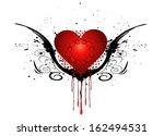 beautiful heart with grunge | Shutterstock .eps vector #162494531