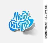 merry christmas | Shutterstock .eps vector #162495581