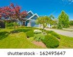 big custom made luxury house...   Shutterstock . vector #162495647