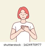 touched positive woman with...   Shutterstock .eps vector #1624970977