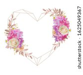 beautiful love frame background ... | Shutterstock .eps vector #1625049367
