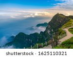 Late afternoon in the mountains and Mount Emei, China