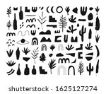 collection of hand drawn... | Shutterstock .eps vector #1625127274