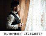 preparation of groom before... | Shutterstock . vector #1625128597