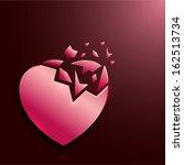 Broken Glass Style Ruby Heart...