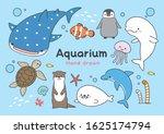 pretty aquarium creatures hand...   Shutterstock .eps vector #1625174794