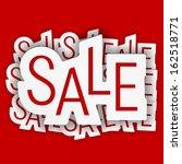 sale concept  vector eps10... | Shutterstock .eps vector #162518771