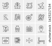 16 business universal icons...   Shutterstock .eps vector #1625217154