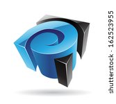 colorful 3d cubical abstract... | Shutterstock .eps vector #162523955