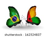 two butterflies with flags on... | Shutterstock . vector #162524837