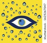 vector background of evil eye   ... | Shutterstock .eps vector #1625267047