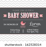 baby shower invitation | Shutterstock .eps vector #162528314