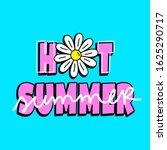 hot summer text with a flower ... | Shutterstock .eps vector #1625290717