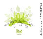 the city on the globe. ecology... | Shutterstock .eps vector #1625301994