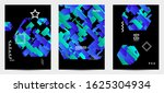 abstract vector templates with... | Shutterstock .eps vector #1625304934