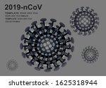 coronavirus cell  2019 ncov.... | Shutterstock .eps vector #1625318944