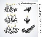 black and white christmas set... | Shutterstock .eps vector #162532511