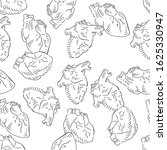 anatomy heart seamless pattern. ... | Shutterstock .eps vector #1625330947