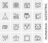business icon set. 16 universal ... | Shutterstock .eps vector #1625337841