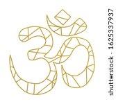 golden lines created om symbol. ... | Shutterstock .eps vector #1625337937