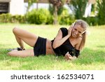 young cute woman relax and...   Shutterstock . vector #162534071