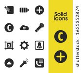interface icons set with...