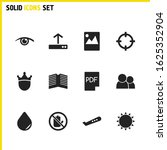 universal icons set with people ...
