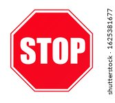 stop sign for traffic stop | Shutterstock . vector #1625381677