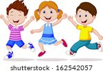 happy kid running | Shutterstock . vector #162542057