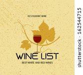wine menu design   wine list... | Shutterstock .eps vector #162544715