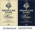 set of two vector wine labels...   Shutterstock .eps vector #1625457454