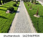 Stone Pavement With Grass...