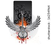 wings guitar emblem | Shutterstock .eps vector #16254964