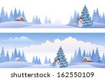 vector banners with winter... | Shutterstock .eps vector #162550109