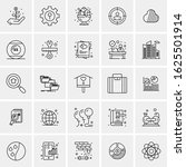 25 universal icons vector...   Shutterstock .eps vector #1625501914