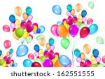 flying balloons isolated on a... | Shutterstock . vector #162551555