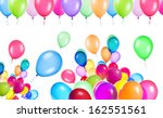 flying balloons isolated on a... | Shutterstock . vector #162551561