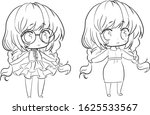 Collection  Set Of Chibi Girl...