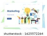 marketing website template  web ... | Shutterstock . vector #1625572264