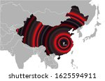 wuhan city located in china.... | Shutterstock .eps vector #1625594911