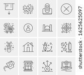 16 business universal icons...   Shutterstock .eps vector #1625625097